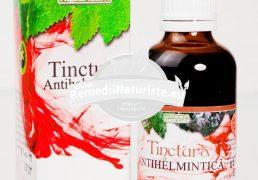 TINCTURA ANTIHELMINTICA 50ml HYPERICUM Tratament naturist in combatera viermilor paraziti parazitoze intestinale ascardioza oxiuroza