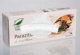 PARAZITOL 30cps BLISTER MEDICA Tratament naturist prazitoze intestinale parazitoze intestinale eliminarea protozoarelor si viermilor paraziti intestinali