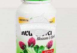 RED CLOVER BLOSSOMS (Trifoi rosu) 100cps SECOM Tratament naturist expectorant tonic hepatic premenopauza menopauza
