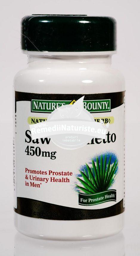 SAW PALMETTO 450mg 30cps N.B. WALMARK Tratament naturist pentru sanatatea prostatei si a tractului urinar prostata tract urinar imbunatateste viata sexuala