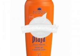 EMULSIE PLAJA FP 25 250ml COSMETIC PLANT Tratament naturist protejeaza pielea impotriva razelor u.v. protectie solara