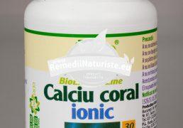 CALCIU CORAL IONIC 30cps ROTTA NATURA Tratament naturist suplimentarea necesarului de calciu rahitism decalcifierea oaselor dezvoltarea armonioasa a sistemului osteo-articular la copii