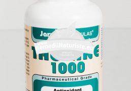 TAURINE 1000mg 100cps SECOM Tratament naturist antioxidant adjuvant in metabolismul lipidic imbunatateste auzul si vederea reduce riscul de infarct miocardic
