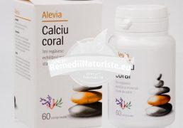 CALCIU CORAL 60cpr ALEVIA Tratament naturist crampe musculare furnicaturi par unghii
