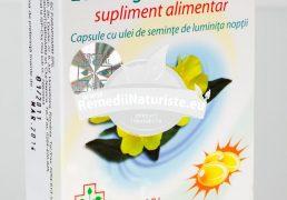 EVENING PRIMROSE OIL 30cps QUANTUM PHARM Tratament naturist glanda tiroida protector hepatic incetineste procesul de imbatranire reglarea sistemului hormonal