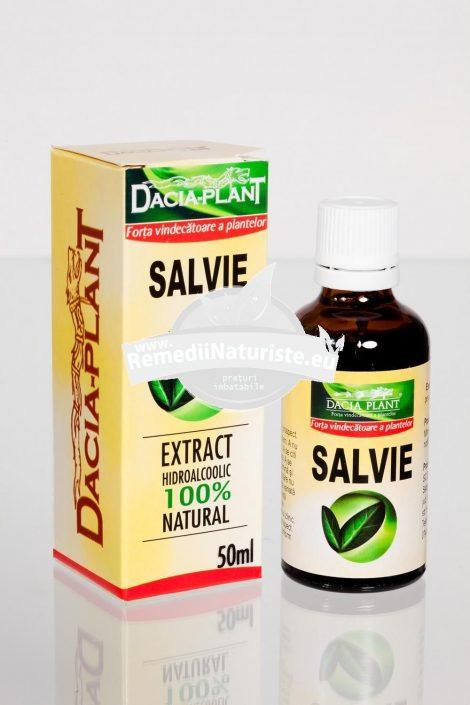 TINCTURA SALVIE 50ml DACIA PLANT Tratament naturist menopauza transpiratie exagerata reumatism reumatism cronic si degenerativ