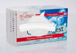 CARBODIGEST 40cps FARMACLASS Tratament naturist regleaza tranzitul intestinal senzatie de balonare indigestie insotita de crampe intestinale flatulenta