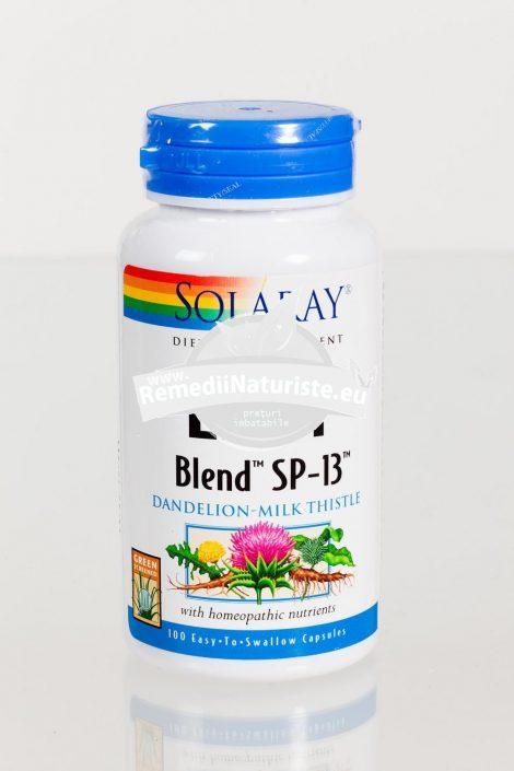 LIVER BLEND 100cps SECOM Tratament naturist hepatoprotector stimuleaza secretia biliara regleaza colesterolul hepatic steatoza hepatica