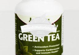 GREEN TEA 100cps SECOM Tratament naturist antioxidant antiinflamator protector cardiovascular hipoglicemiant