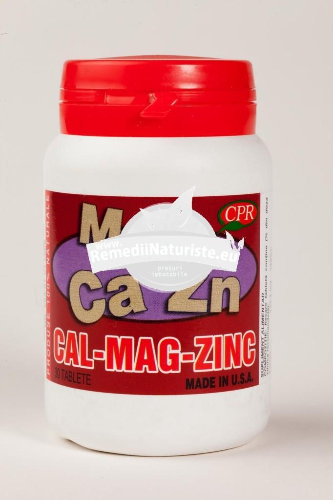 CA MG ZN 30tb COSMOPHARM Tratament naturist tratamentul deficientelor de calciu magneziu zinc tetanie