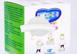 CALCIU 500+D3 +VIT.C KIDS 20pl FITERMAN Tratament naturist previne instalarea rahitismului dezvoltarea oaselor urticarie astm bronsic alergic