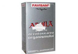 ARGILA PRAF 100gr FAVISAN Tratament naturist cure de dezintoxicare ficat splina digestie