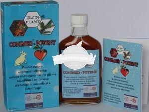 CONIMED POTENT 200 ml ELZIN PLANT Tratament naturist adjuvant in tratarea disfunctiilor sexuale si a infertilitatii infertilitate tulburari de erectie, de ejaculare astenie