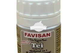 TEI 40cps FAVISAN Tratament naturist stari febrile spasme relaxare favorizeaza transpiratia