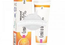CREMA CU UREE 15% ROMBALSAM 50ml HIPOCRATE Tratament naturist crema hidratanta cicatrizanta emolienta bataturi vindecarea rapida a pielii crapate