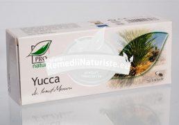 YUCCA 30cps BLISTER MEDICA Tratament naturist dermatite boli cronice ale intestinului geos diureza detoxifiere