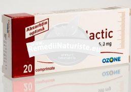 CALCIU LACTIC 500mg*20cpr OZONE Tratament naturist in demineralizari osoase perioada de crestere sarcina alaptare