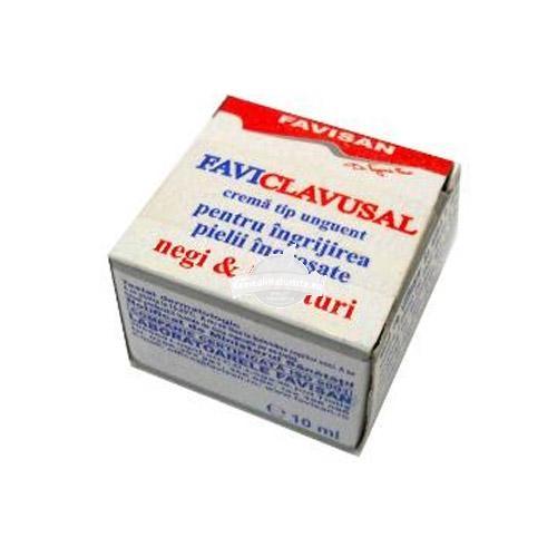 UNGUENT NEGI CLAVUSAL 10ml FAVISAN Tratament naturist indeparteaza bataturile negii piele ingrosata bataturi